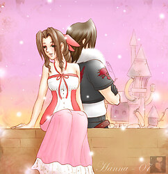 Aerith and Leon - peace and quiet
