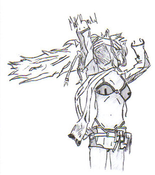 Rikku Sketch (no color)