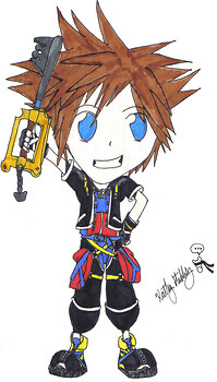 Chibi Sora ::Art Trade::