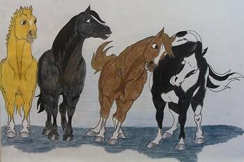 American Idol Judges as Horses