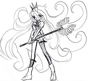 A battle princess