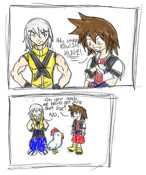-Gasp- Riku has a big cock. o.o