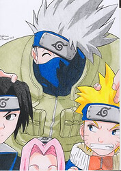 Naruto team 7 (scanned)