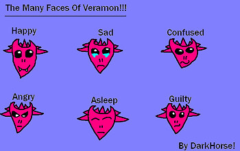 The Many Faces Of Veramon!