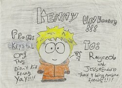 Kenny unhooded--present 4 Jessie and Rayne