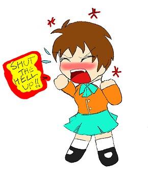 Mayako's pissed