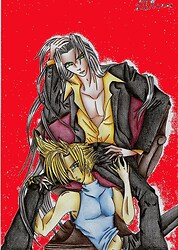 Sephiroth and Cloud Sexy in Colour