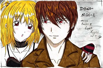 Death Note-Light Yagami and Misa Amane
