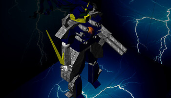 A Gundam/armored core thingymajiger