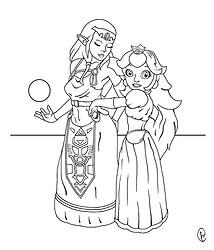 Princess' - ink