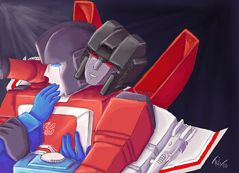 Starscream and Perceptor