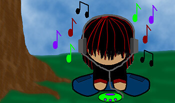 my little emo listining to music(ROCK)