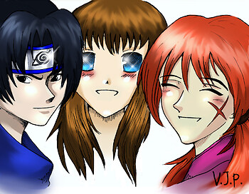 Sasuke, Tohru, and Kenshin