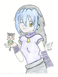 Amaya with Tora plushie