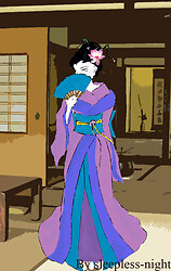 Geisha coloured