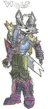 Wolf(super smash bros warzone style)