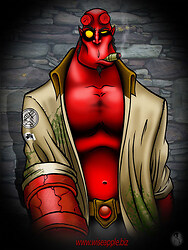 HELLBOY: time for a stogie