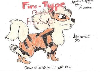 Fire-type Pokemon Fanclub Banner (Arcanine)