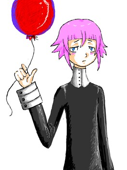 Chrona and a balloon