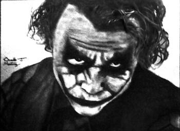 "Heath Ledger as ""The Joker"""
