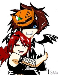Halloween sora and kairi[neww]