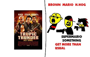 Super Mario Something Parody Poster: Tropic Thunder