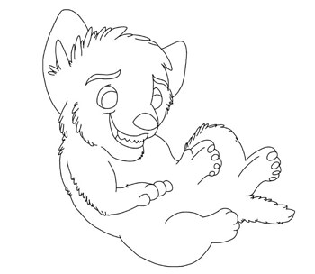 my fluffy tail(lineart)