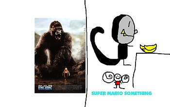 Super Mario Something Parody Poster: King Kong