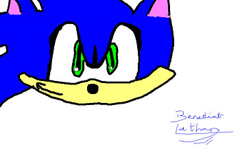 my first sonic pic on the computer