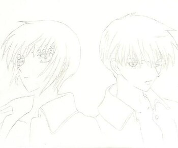 yuki and kyo from fruits basket