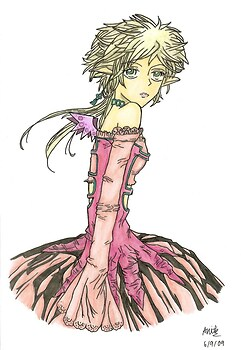 Random anime girl (coloured!)