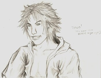 Random Tidus Head Sketch