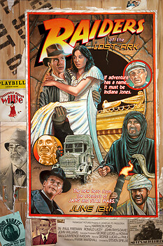 "RAIDERS ""circus style"" movie poster"