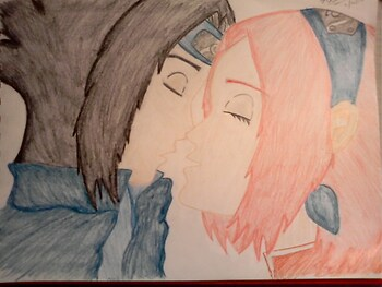 Sakura and Sasuke Kiss
