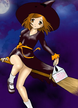 Witch and Cake