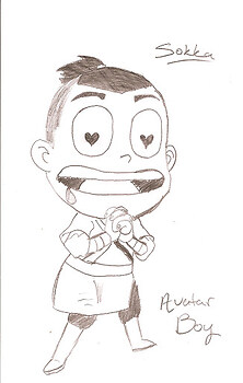 Chibi Sokka in Love