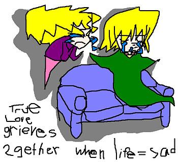 Joey and Mai Weeping as Ghosties