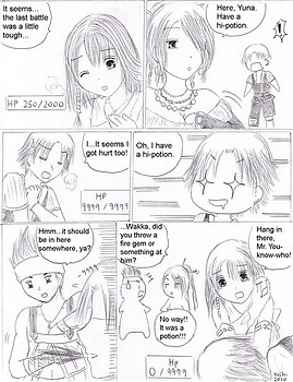 FFX comic: Get that potion!