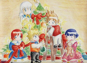 Chibi Tree Decorating