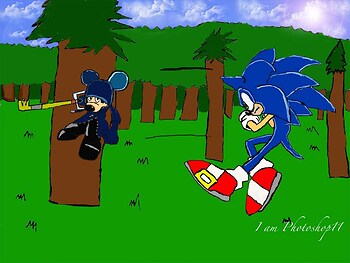 Sonic vs King Mickey