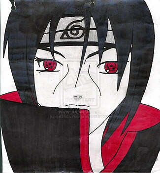 My First Drawing Of Itachi