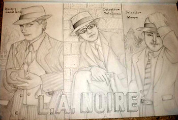 My friends as L.A. Noire Detectives