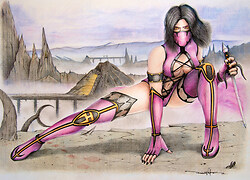 Mileena brings out the Sai
