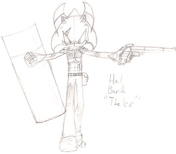 Return sketch two: Hail Burik
