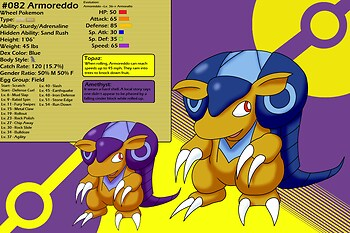 Chushin Pokedex - Armoreddo