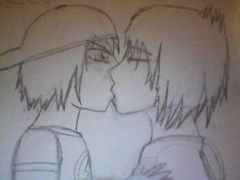 The shocker kiss of Joshua and Aaren Averez