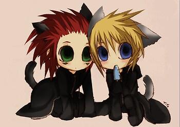 Chibi-Axel and Roxas
