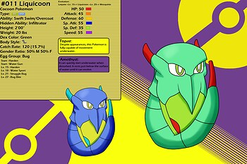 Chushin Pokedex - Liquicoon