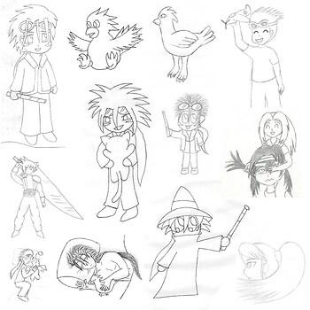 FFVII Doodles 1