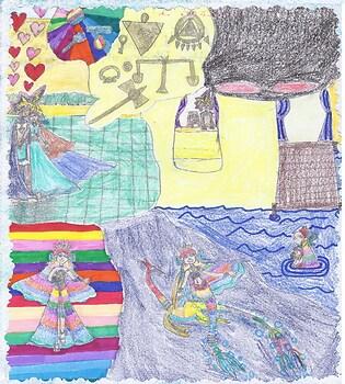 Season 1 of Yugioh Rainbow Mermaid Princess of the Nile River